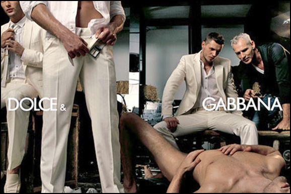 Dolce Gabbana male rape ad